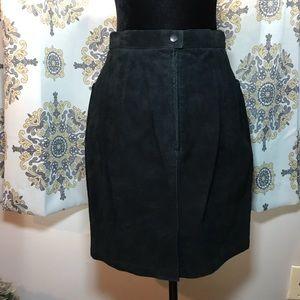 Bagatelle Black 100% Genuine Leather Pencil Skirt